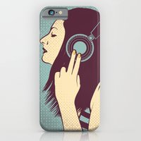 iPhone & iPod Case featuring loud silence by freshinkstain