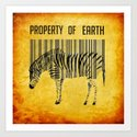 The encoded zebra Art Print