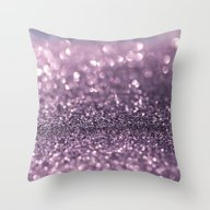 Lavender Bokeh Throw Pillow