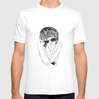 Drawing Mens Fitted Tee White SMALL