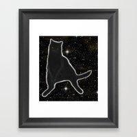 Kiki Kitty Cat In Outer … Framed Art Print
