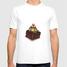 Cake White Mens Fitted Tee SMALL