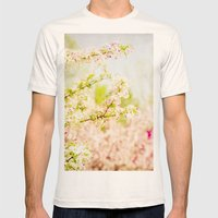 Country Lane Flowers Mens Fitted Tee Natural SMALL