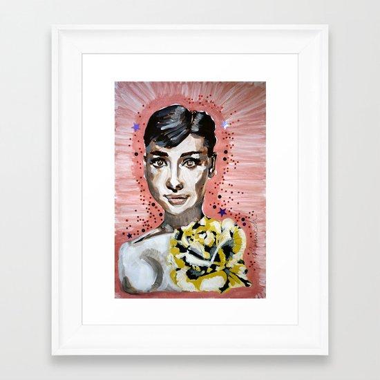Audrey Hepburn 2 Framed Art Print