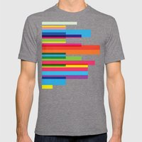 sexy colors Mens Fitted Tee Tri-Grey SMALL