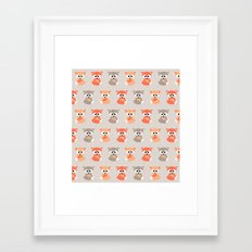 Baby foxes pattern Framed Art Print