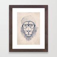 Cool Lion Framed Art Print