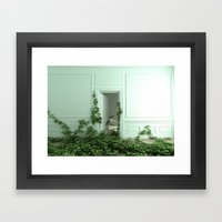 Creeping ivory Framed Art Print