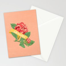floral with banner - hello beautiful Stationery Cards