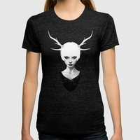 Space Within Womens Fitted Tee Tri-Black SMALL