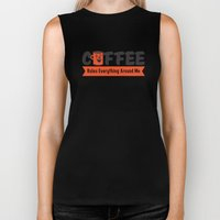 Coffee Rules Everything … Biker Tank