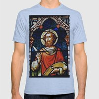 Saintly Glass Mens Fitted Tee Athletic Blue SMALL