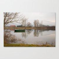 Cerknica lake in the morning Canvas Print