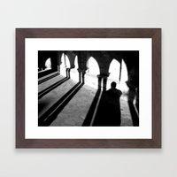 Drunken Shadow Framed Art Print