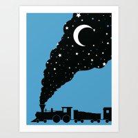 The Night Train Art Print