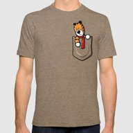Pocket Pal Mens Fitted Tee Tri-Coffee SMALL