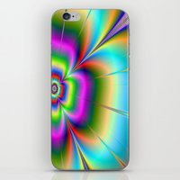 Neon Flower iPhone & iPod Skin