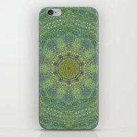 liquid green mandala? iPhone & iPod Skin