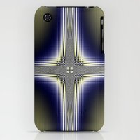 iPhone 3Gs & iPhone 3G Cases featuring Fractal Cross by Harvey Warwick