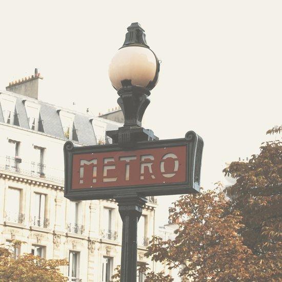 Metro - Paris Sign Photography Art Print
