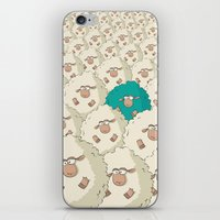 Sheep Pattern   Turquoise iPhone & iPod Skin