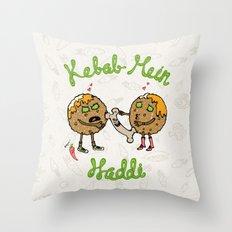 Kebab Mein Haddi Throw Pillow
