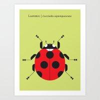 Lady Bug Yellow Art Print