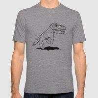 Handosaurus Rex Mens Fitted Tee Athletic Grey SMALL