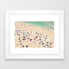 beach love - Nazare Framed Art Print
