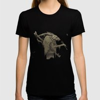 old bones Womens Fitted Tee Black SMALL