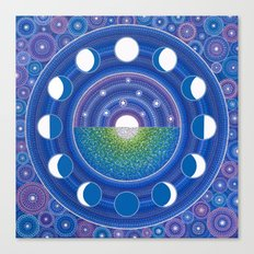Moon Phase Mandala Canvas Print
