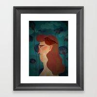 Lady With Bird Framed Art Print