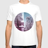 BLOOMING TIME Mens Fitted Tee White SMALL