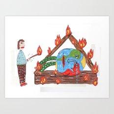 Mundinho - Burn Art Print
