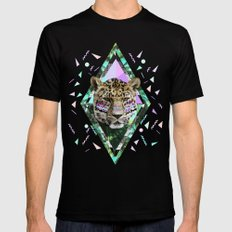 ▲SAFARI WAVES▲ SMALL Black Mens Fitted Tee