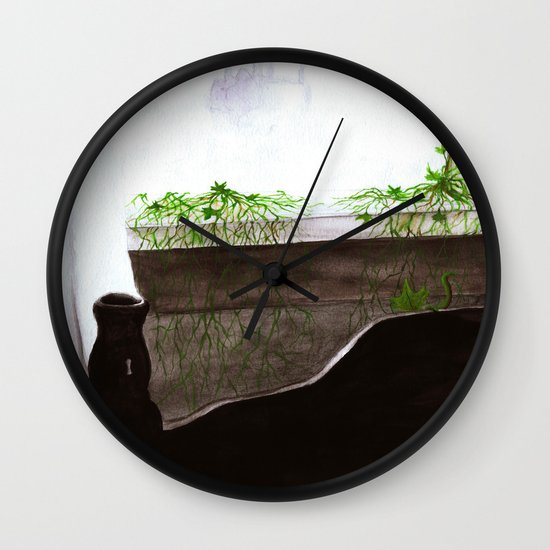 """Give Up"" by Cap Blackard Wall Clock"