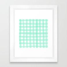 Gingham Mint Framed Art Print