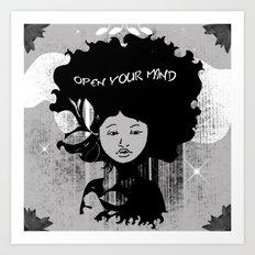 Open Your Mind Art Print