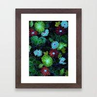Oriental blossom (night version) Framed Art Print