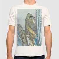 The Gherkin London Mens Fitted Tee Natural SMALL