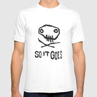 So It Goes (Black) Mens Fitted Tee White SMALL