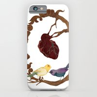 iPhone & iPod Case featuring Two birds and a heart by Visionautas