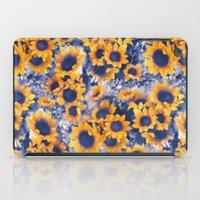Sunflowers Blue iPad Case