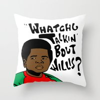 Diff'rent Strokes Throw Pillow