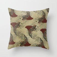 ying and yang shark fin goldfish pattern Throw Pillow