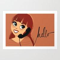 Salutations Art Print