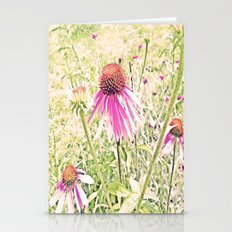 Echinacea in light green grass Stationery Cards