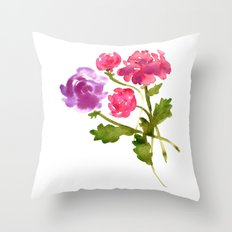 Floral No. 1 Throw Pillow