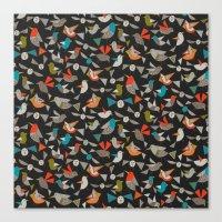 just birds dark Canvas Print