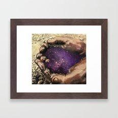 The hands  Framed Art Print
